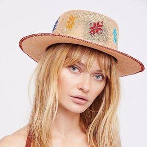 Free People X Carolina K embroidered Panorama hat